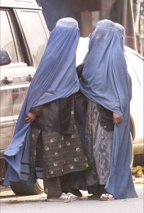 Afghan Women wearing Burkhas