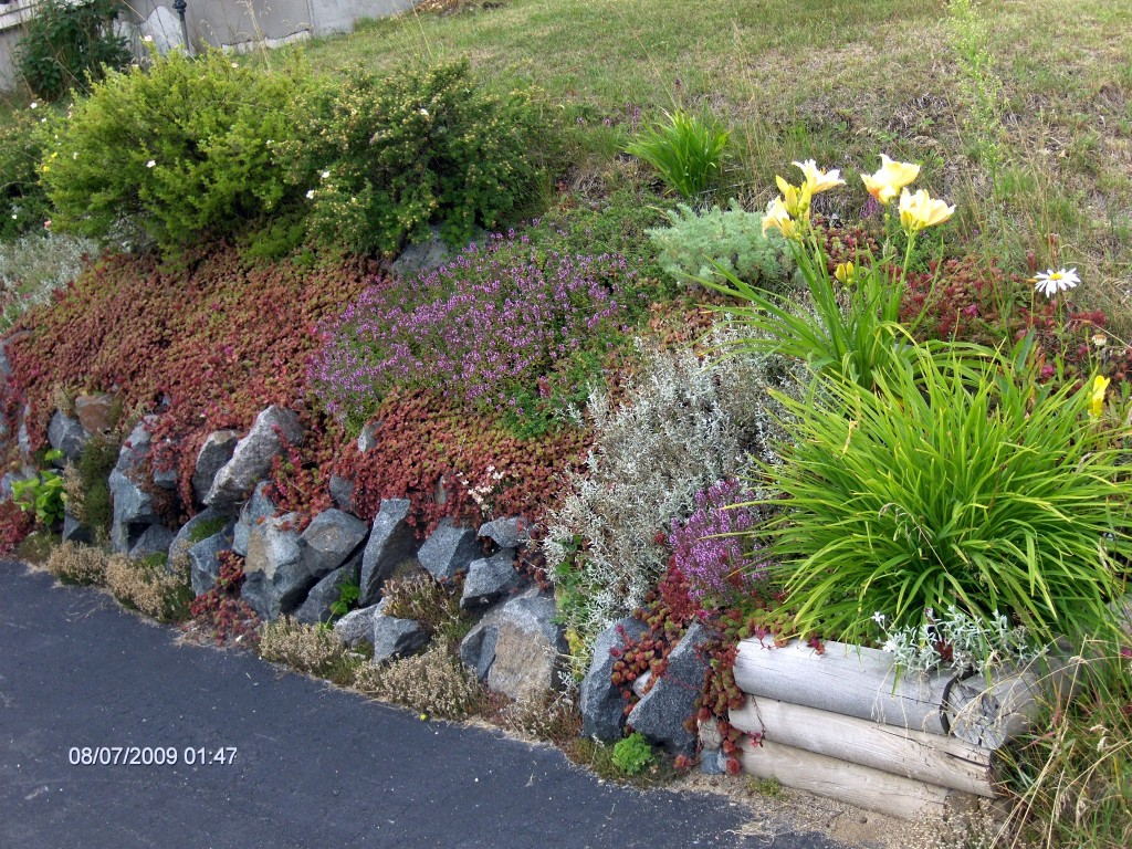 Retaining wall -Rock Garden Beauty