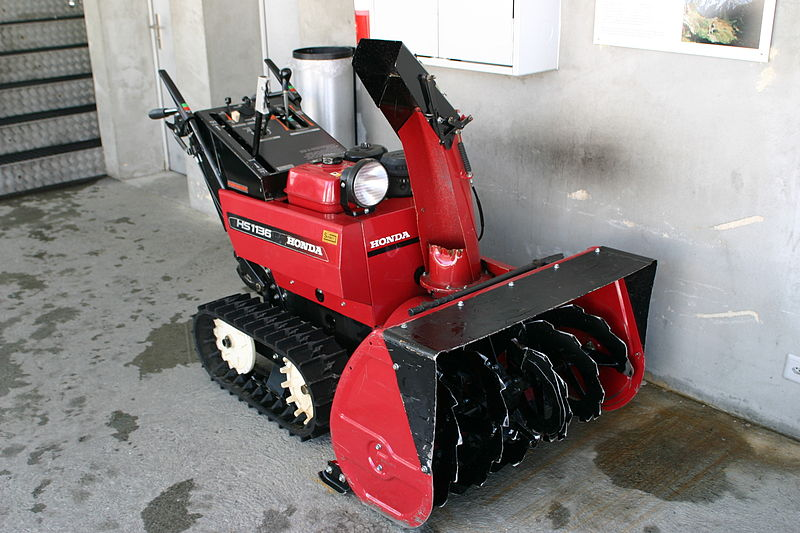 A High Capacity Honda Snowblower