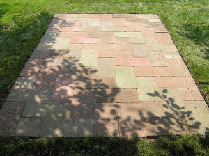 Modest Patio built with Concrete Patio Pavers