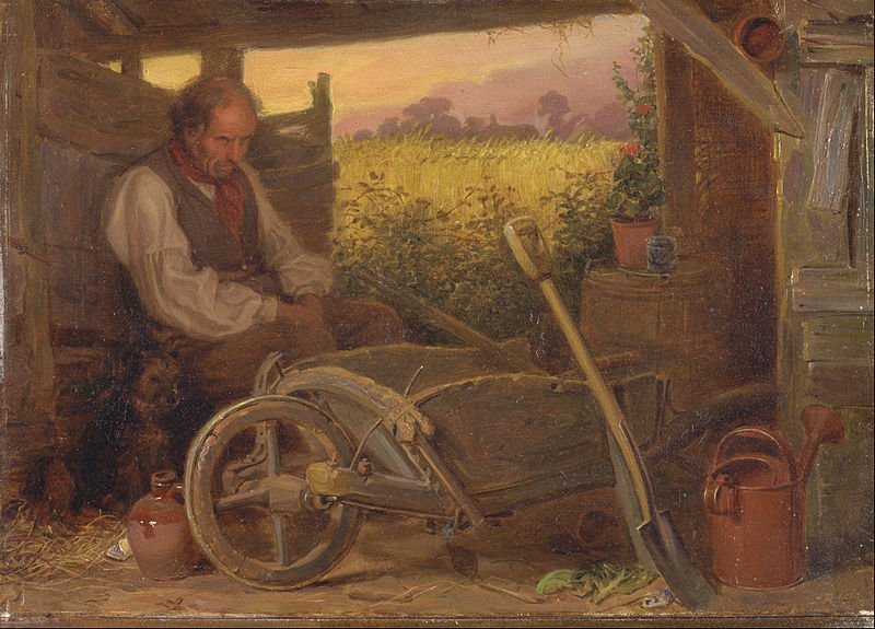 Briton Riviere 'The Old Gardener'