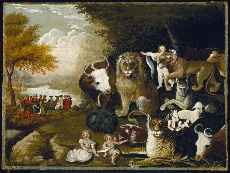 The Peaceable Kingdom Edward Hicks
