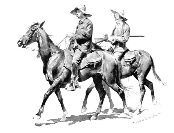 Cowboys on Horses, Remington, Frederic, 1861-1909.