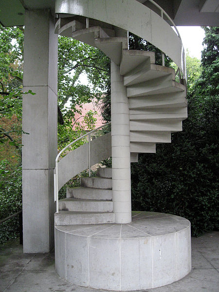 Spiral stairs built of Concrete