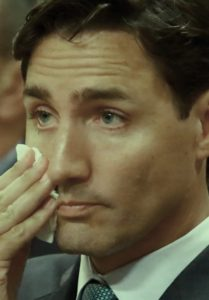 Trudeau weeps